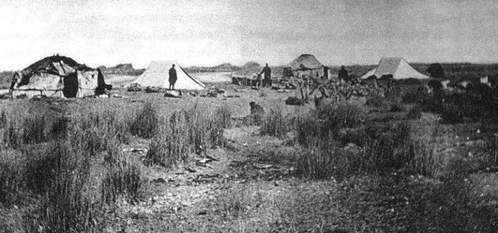 Экспедиционный лагерь  в Зайсане.