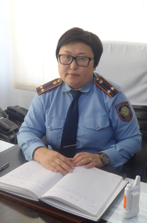 Начальник  ИЧ 167/4 А. Адильбекова.