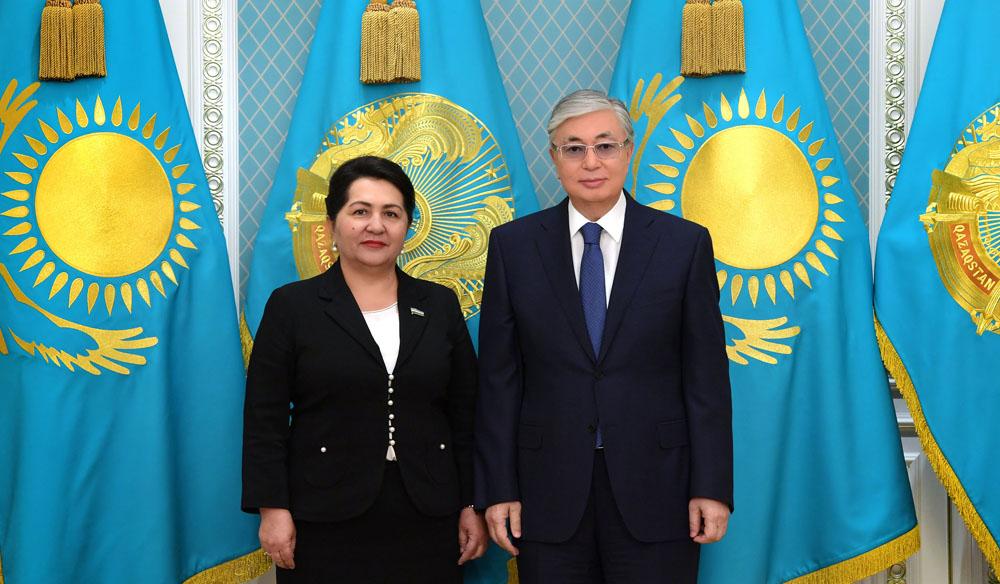 Президент Казахстана принял Председателя Сената Олий Мажлиса РУ