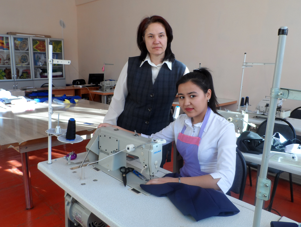 Н. Рафиева  и ее педагог  Ж. Столяр.